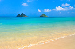 Tropical paradise, heavenly beach, Oahu Hawaii Stock Image