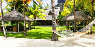 Tropical paradise holidays in Mauritius island. Stock Photography
