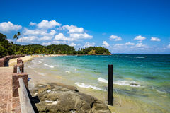 Tropical paradise on the island of Frades in the Bay of All Saints in Salvador Bahia. Brazil royalty free stock photos