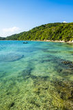 Tropical paradise on the island of Frades in the Bay of All Saints in Salvador Bahia. Brazil royalty free stock images