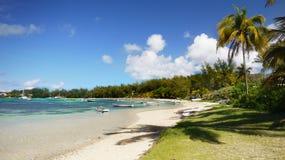 Tropical Paradise Island Mauritius, Indian Ocean Island stock image