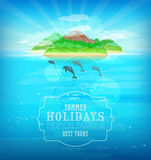 Tropical paradise. Island in the ocean Stock Photo