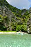 Tropical Paradise Islands. Rocks around El Nido, Philippines Stock Photo