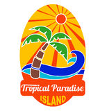 Tropical paradise logo for company and t-shirts Stock Image