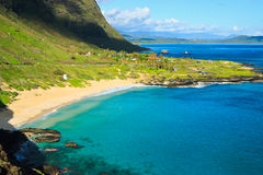 Tropical paradise, Makapuu beach, Oahu Hawaii Royalty Free Stock Images