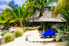 Tropical Paradise in  Mauritius island. Royalty Free Stock Photo