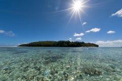 Tropical Paradise Polynesian lagoon Beach Royalty Free Stock Photo