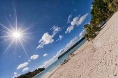 Tropical Paradise Polynesian lagoon Beach Royalty Free Stock Image