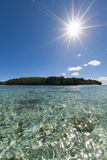 Tropical Paradise Polynesian lagoon Beach Stock Photography