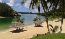 Tropical paradise. Port Vila in Vanuatu Stock Image