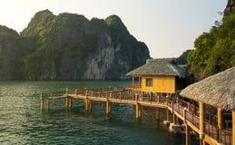 Tropical paradise resort in Halong bay Vietnam Royalty Free Stock Photos