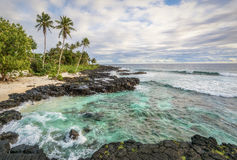 Tropical Paradise. Return to Paradise Lefaga beach, Western Samoa Royalty Free Stock Images