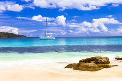 Tropical paradise - Seychelles islands stock photos
