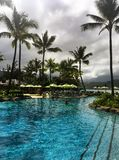 Tropical paradise at the St. Regis Resort Princeville Kauai Hawaii Stock Photo