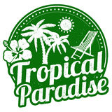 Tropical paradise stamp Royalty Free Stock Photo