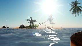 Tropical paradise at sunset. Tropical paradise in the evening stock video footage