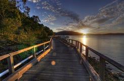 Tropical paradise walk Royalty Free Stock Photo