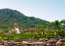 Tropical park Nong Nooch Royalty Free Stock Image