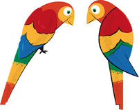 Tropical Parrots Royalty Free Stock Photo