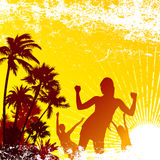 Tropical party. Party with tropical background vector Stock Photos
