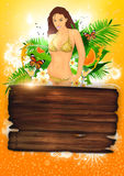 Tropical party or holiday background Royalty Free Stock Image