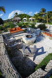 Tropical patio area outdoors Stock Images
