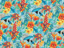 Tropical pattern. Seamless tropical pattern with birds Stock Image