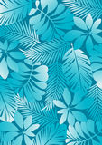 Tropical pattern aqua. Royalty Free Stock Photo