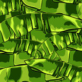 Tropical pattern with banana leaves. Vector illustration. Stock Image