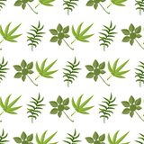 Tropical pattern palm summer green palm leaves background. Tropical pattern palm summer green palm leaves black background. Vector exotic seamless pattern Stock Photo