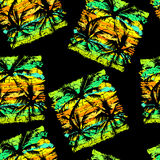 Tropical pattern 19. Seamless  tropical pattern depicting palm trees on the  bright green background Stock Photography