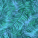 Tropical pattern 42. Seamless  tropical pattern depicting palm trees on the bright pink background Royalty Free Stock Photos