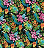 Tropical pattern. Royalty Free Stock Photography