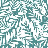 Tropical pattern, vector floral background. palm leaves seamless pattern stock illustration
