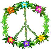 Tropical Peace Sign Royalty Free Stock Photography