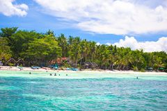 Tropical perfect island Puntod in Philippines Stock Photos