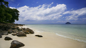 Tropical Phi Phi Coast. An view of Phi Phi Don island off the east coast of Phuket Thailand stock photography