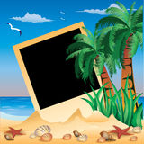 Tropical Photo frame, Royalty Free Stock Images