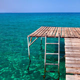 Tropical pier for jumping Stock Images