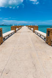 Tropical pier. Koh Samui, Thailand Stock Images