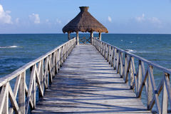 Tropical pier Royalty Free Stock Image