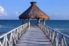 Tropical pier Stock Images