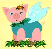 Tropical Pig in a Garden Stock Photos