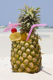 Tropical Pineapple Cocktail Royalty Free Stock Photo