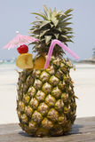 Tropical pineapple cocktail Stock Photo
