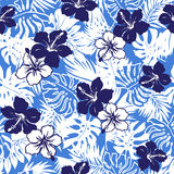 Tropical plants pattern Royalty Free Stock Image