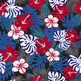 Tropical plants pattern Stock Photo