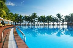 Tropical pool Stock Photo