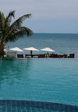 Tropical Pool. A pool in a tropical resort. recreational Royalty Free Stock Photography