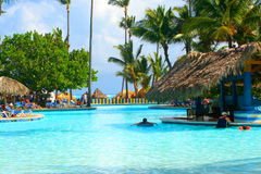 Tropical pool bar Royalty Free Stock Photo